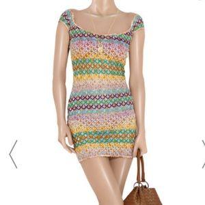 Baden crochet-knit mini dress
